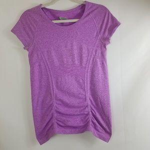 Athleta purple short sleeve top small